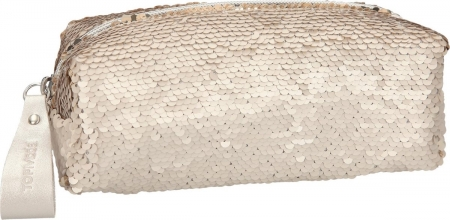Topmodel etui, met strijkpailletten - goud