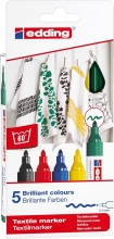 , Viltstift edding 4500 textiel rond 2-3mm basis assorti