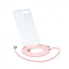 Ax123 , Axento telefoonkoord met hoesje iphone 7+/8+ roze