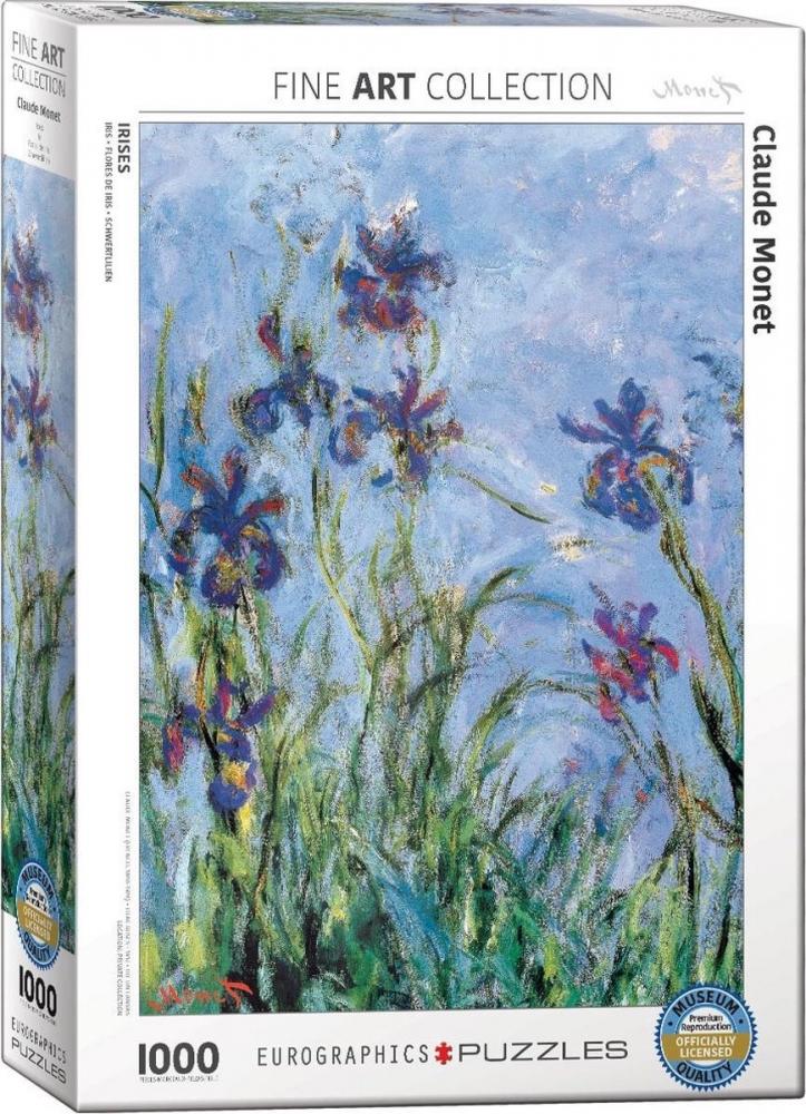 Eur-6000-2034,Puzzel eurograpics irises - monet 1000 stukjes