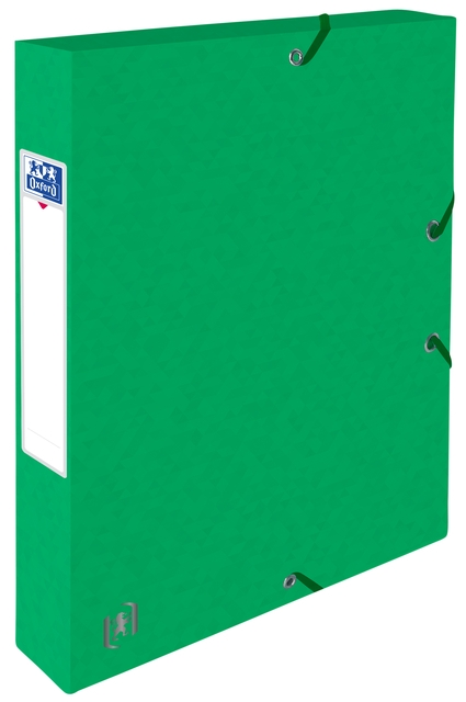 ,Elastobox Oxford Top File+ A4 40mm groen
