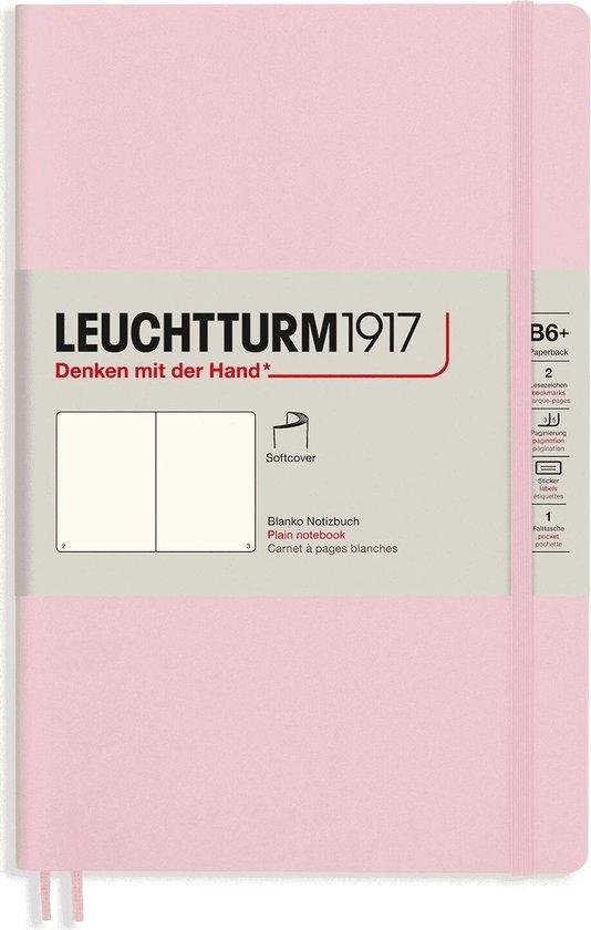 Lt363932,Leuchtturm notitieboek softcover 19x12.5 cm blanco powder roze