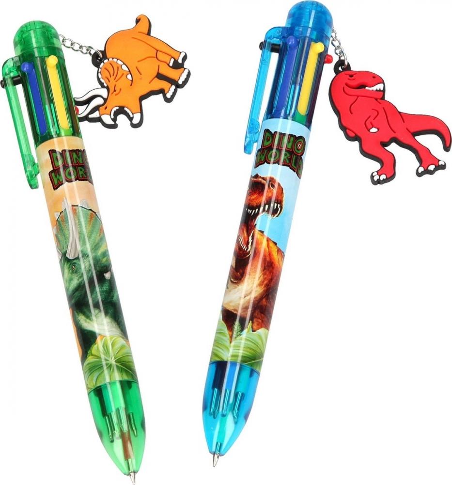 ,Dino world 6 kleurenpen