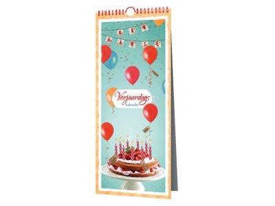 06-kal.mg.7013,Verjaardagskalender party time paperclip