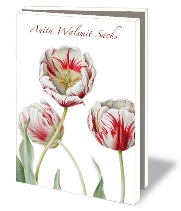 Mcw110,Notecard met env.  a6 10 stuks anita walsmit sachs tulpen