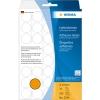 , Etiket Herma 2254 rond 19mm fluor oranje 960stuks