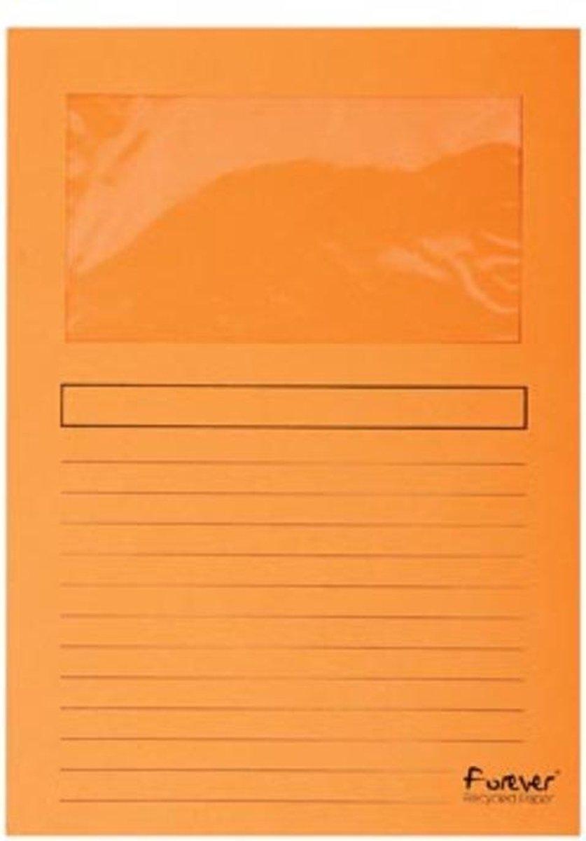 ,Insteekmap L-model Exacompta + venster karton oranje
