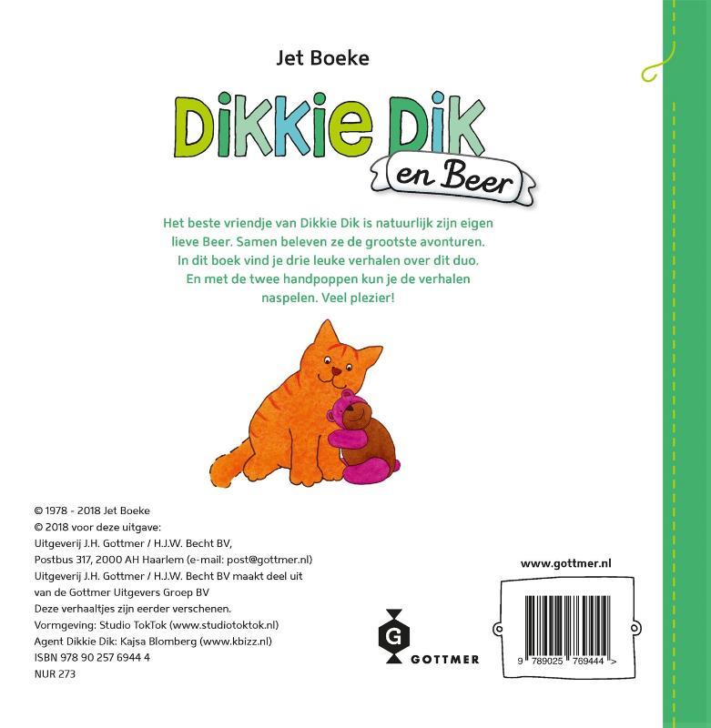 Jet Boeke,Dikkie Dik en Beer (met 2 handpoppen)
