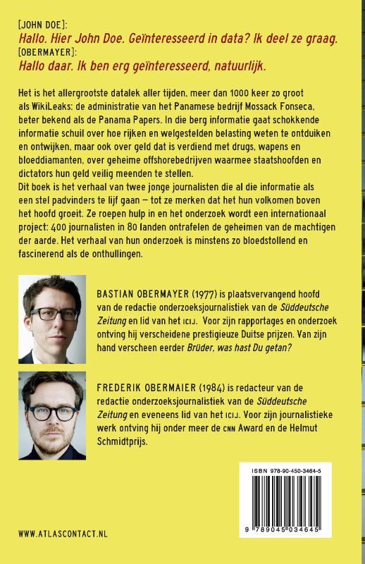 Bastian Obermayer, Frederik Obermaier,Panama Papers