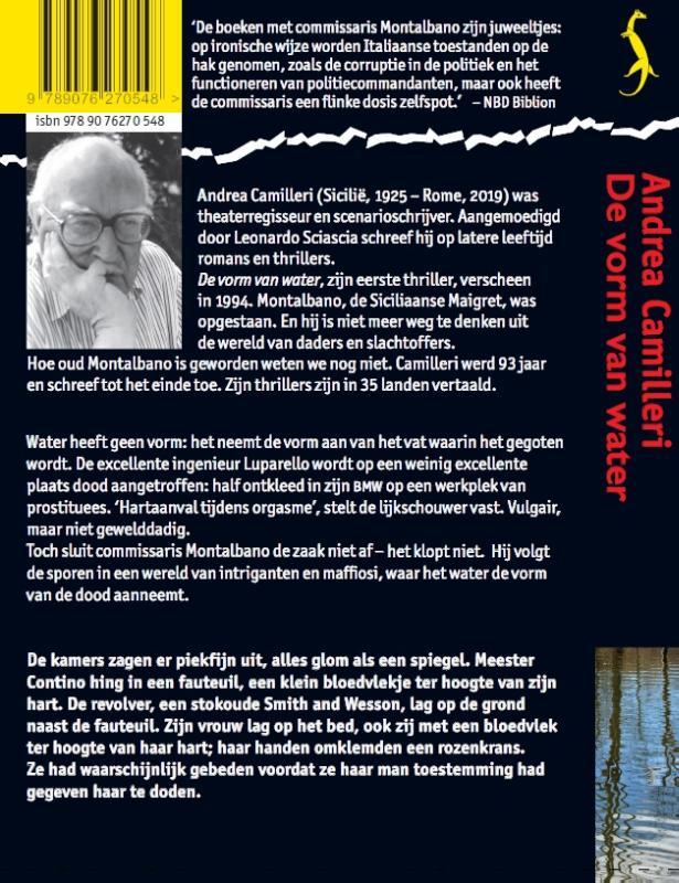 Andrea Camilleri,De vorm van water