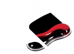 , Muismat met polssteun Kensington Duo rood/zwart