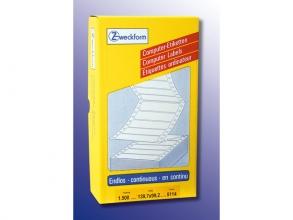 , computertiket Zweckform 139,7x99,2 wit 1-baans 1500         etiketten