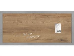 , glasmagneetbord Sigel Artverum 1300x550x15mm Natural Wood