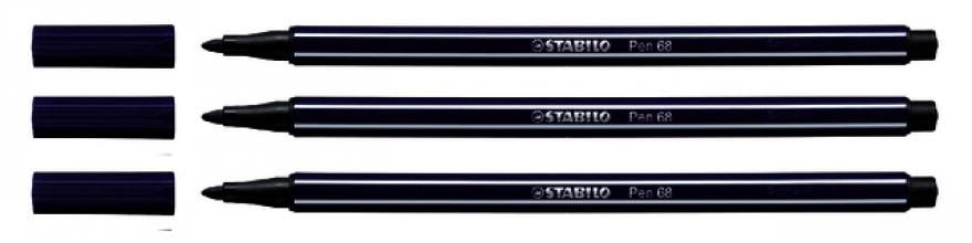 , Viltstift STABILO Pen 68/22 pruissisch blauw