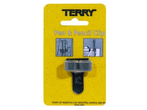 , Terry Clip tbv 2 pennen/potlood zilverkleurig