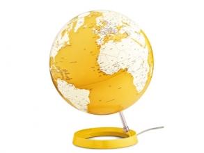 , globe Bright Yellow 30cm diameter kunststof voet met        verlichting
