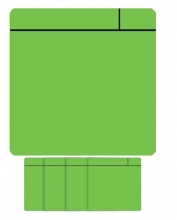 , Magneet scrum 75x75mm groen