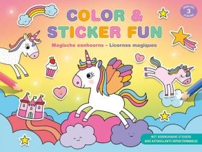 , Color & Sticker Fun - Magische eenhoorns