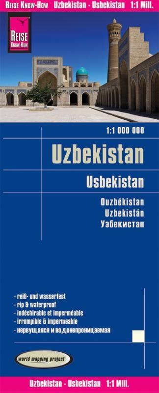 ,Reise Know-How Landkarte Usbekistan 1 : 1.000.000