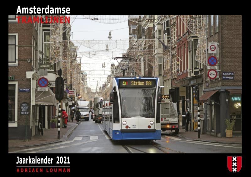 ,Amsterdamse Tramlijnen - Jaarkalender 2021