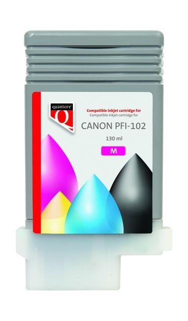,Inktcartridge Quantore Canon PFI-102 rood
