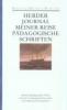 Herder, Johann Gottfried,Journal meiner Reise im Jahr 1769. Pädagogische Schriften