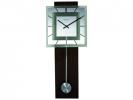 ,Wandklok NeXtime 32 x 80 cm, melkglas & hout, `Retro        Pendulum` Square