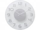 <b>wandklok NeXtime dia. 30      classy metaal helder glas                                   wijzer zilver - uurwerk stil</b>,