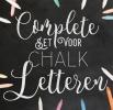 ,De complete set voor Chalkletteren