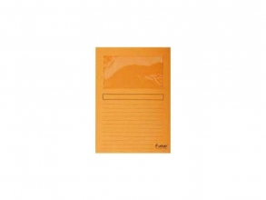 , Insteekmap L-model Exacompta + venster karton oranje