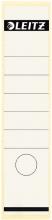 , Rugetiket Leitz breed/lang 62x285mm zelfklevend wit
