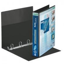 , Presentatieringband Leitz SoftClick A4 Maxi 4-rings D-mech 30mm zwart