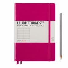 Lt344807 , Leuchtturm notitieboek medium 145x210 lijn berry bessenrood