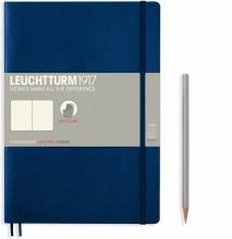 Lt349301 , Leuchtturm notitieboek composition 178x254 mm dots/puntjes navy
