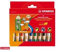 , Kleurpotloden STABILO Woody 880/10 etui à 10 kleuren