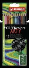 , Kleurpotloden STABILO Greencolors 6019/12-1-20 etui à 12 stuks
