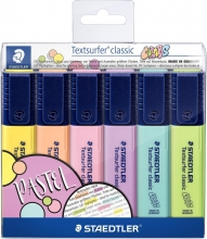 , Markeerstift Staedtler 364 Textsurfer pastel set à 6 stuks assorti