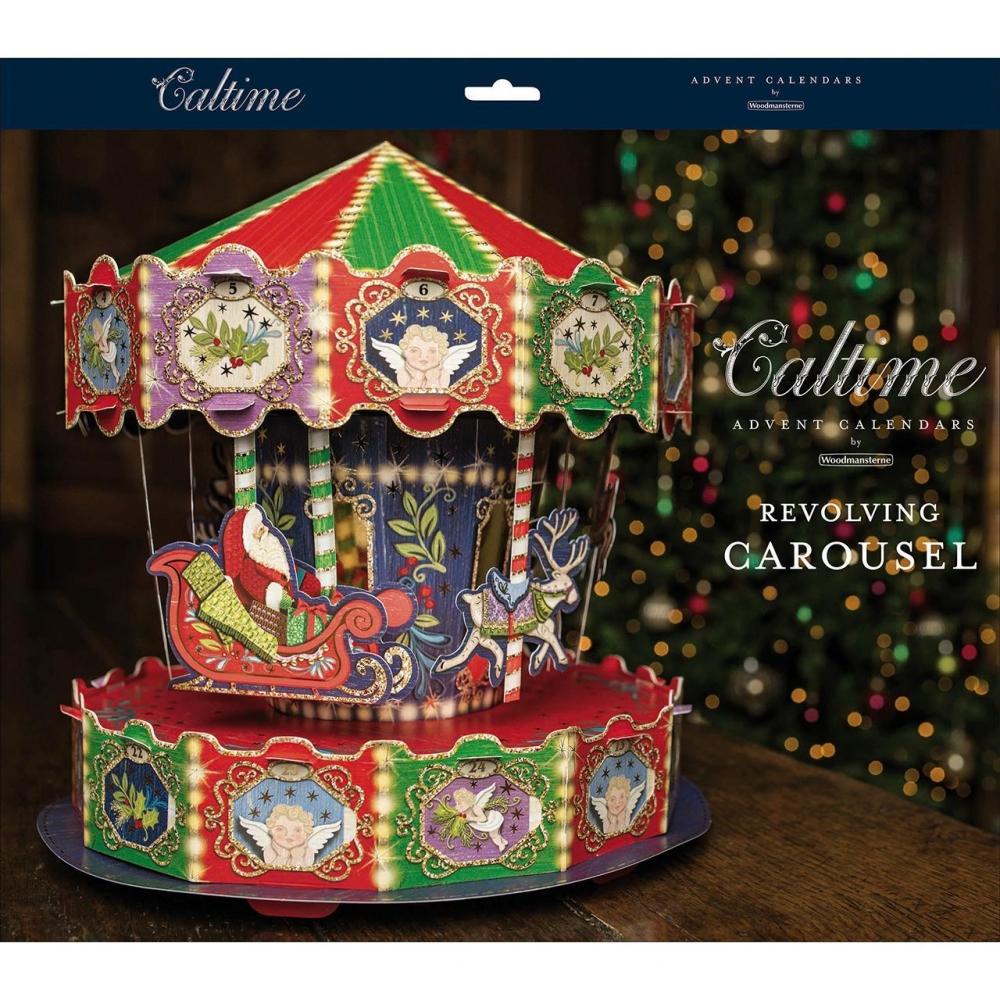 ,Adventskalender 3d advent carousel