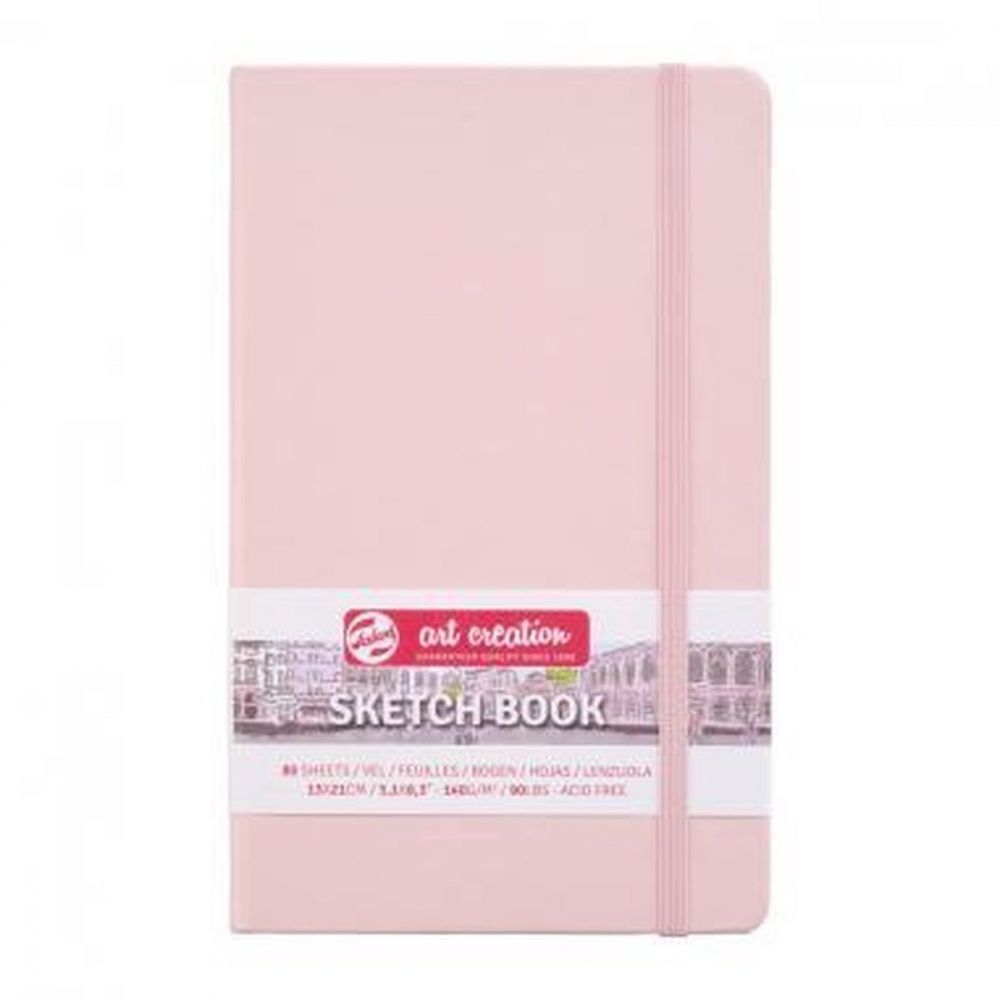 9314012m,Talens art creation schetsboek 80 bl 140 gr 13x21 cm pink