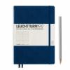 <b>Lt342922</b>,Leuchtturm notitieboek medium 145x210 lijn marineblauw
