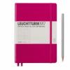 <b>Lt344807</b>,Leuchtturm notitieboek medium 145x210 lijn berry bessenrood