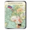 , Set speelkaarten - vintage map