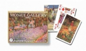 Pia-210846 , Monet gardens speelkaarten - double deck - piatnik