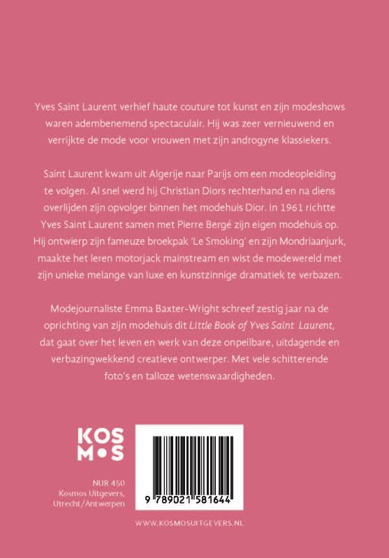 Emma Baxter-Wright,Little book of Yves Saint Laurent
