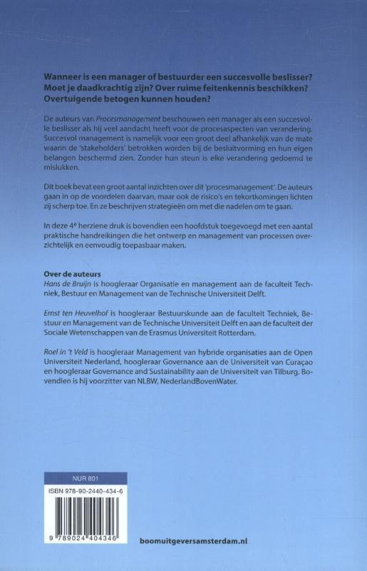 Hans de Bruijn, Ernst ten Heuvelhof, Roel in `t Veld,Procesmanagement