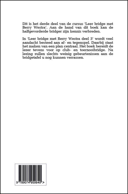 B. Westra,Leer bridge met Berry Westra 3