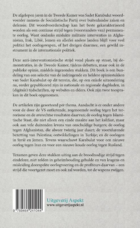 Sadet Karabulut,Een pen tegen permanente oorlog