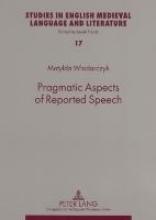Matylda Wlodarczyk Pragmatic Aspects of Reported Speech