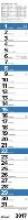 Streifenplaner Praktika Blau 2017