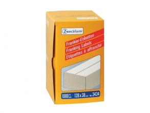 , frankeeretiket Zweckform wit 128x38mm 2 etiketten per vel   500 vel